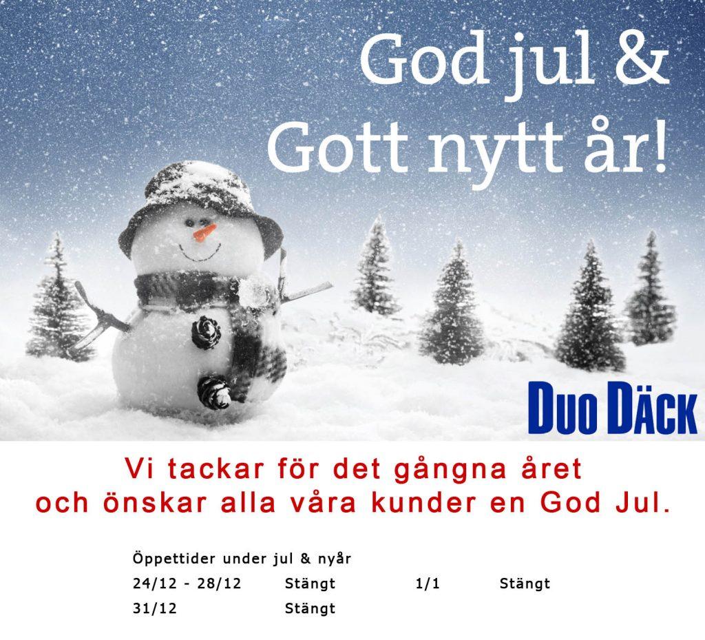 Julkort Duo Däck 2018
